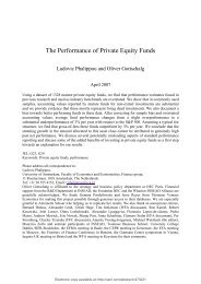 The Performance of Private Equity Funds - Commonfund