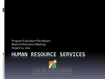 2010 PEP Presentation - Park Hill School District