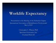Worklife Expectancy - Spectrum Economics