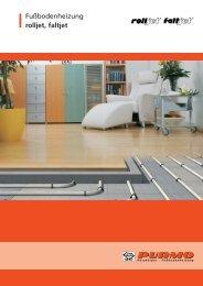 Fußbodenheizung rolljet, faltjet
