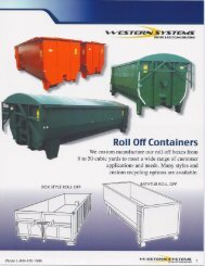 Roll Off Containers - Western Systems & Fabrication, Inc.