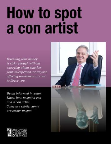 How you can spot a con artist
