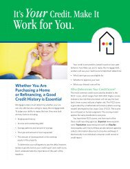 It's Your Credit. Make it Work for You - Home Loan Learning Center
