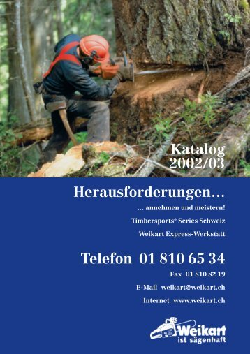 Katalog 2002/03 Herausforderungen… Telefon ... - Hch. Weikart AG