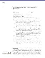 Commonfund Global Multi-Asset Portfolio, LLC Questionnaire