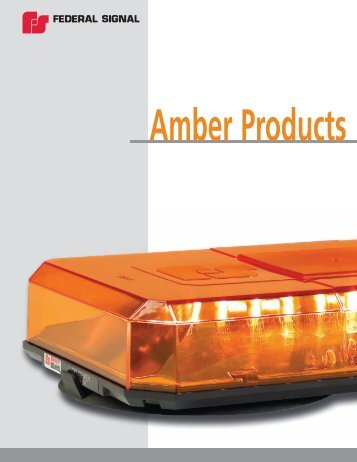 Federal Signal Amber Catalog - Vineland Auto Electric