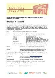Mittwoch, 9. Juni 2010 - Volksbanken Nightcup