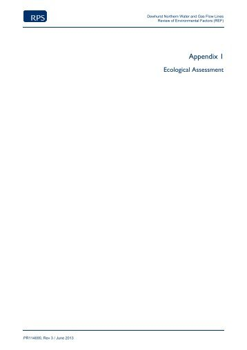 Appendix 1, Ecological Assessment (2 MB) - Santos