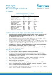 Fourth Quarter Activities Report For period ending 31 ... - Santos