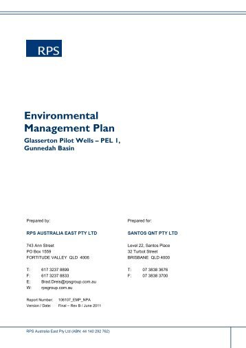 Environmental Management Plan - Santos