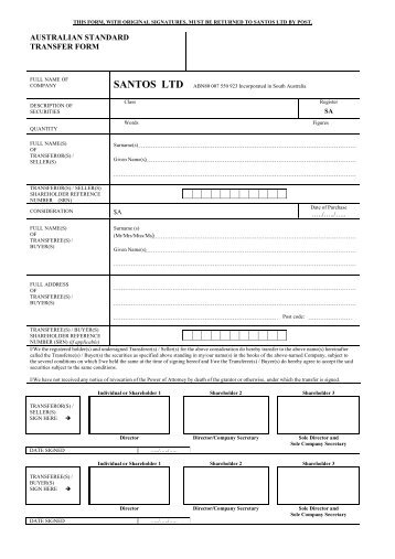 Internal Transfer Form B Computershare