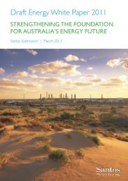 Draft Energy White Paper 2011 - Santos