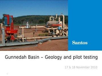 17 & 18 November 2010 – Gunnedah Basin Geology - Santos