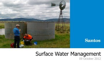 Water Strategy Business Case - Santos
