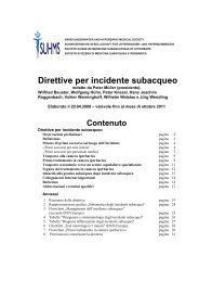 Direttive incidente subacqueo - TimeOut intensiva