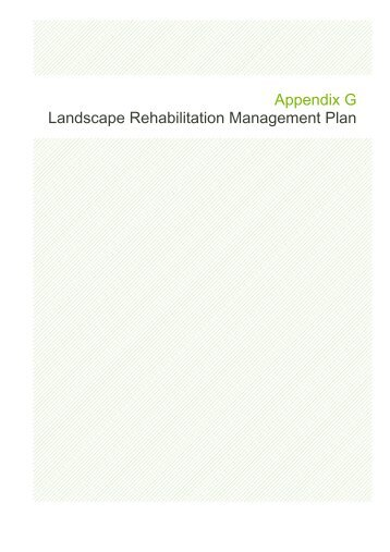 Appendix G Landscape Rehabilitation Management Plan - Santos