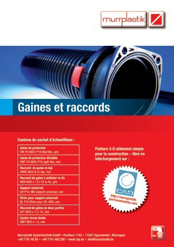 Gaines et raccords - Murrplastik Systemtechnik