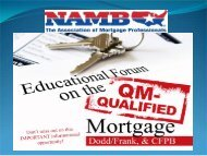 Risk of Non-compliance - NAMB