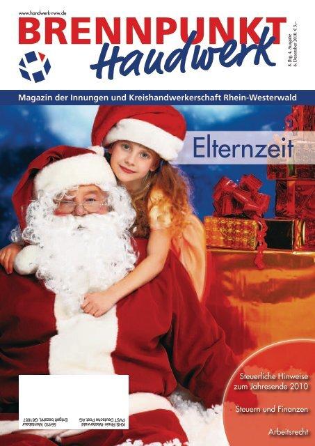Bestätigung der Elternzeit - Kreishandwerkerschaft Rhein-Westerwald