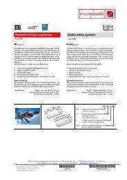 Kabeldurchführungsleiste Cable entry system - Murrplastik ...