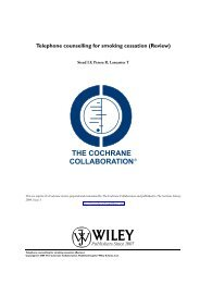 Telephone counselling for smoking cessation (Review) - NCSCT
