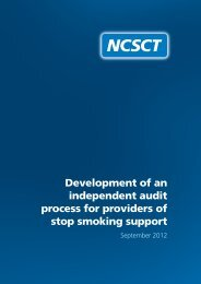 This report describes how the independent auditing ... - NCSCT