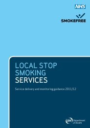 Local Stop Smoking Services Service delivery and ... - Gov.UK