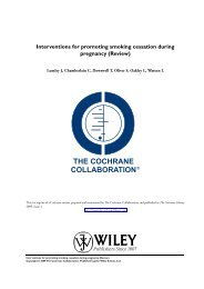 Interventions for promoting smoking cessation during ... - NCSCT
