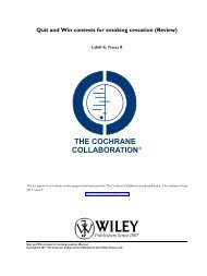 Quit and Win contests for smoking cessation (Review) - NCSCT