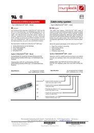 Kabeldurchführungsplatte Cable entry system - Murrplastik ...
