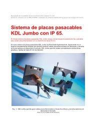 Sistema de placas pasacables KDL Jumbo con IP 65.