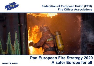 Pan European Fire Strategy 2020 A safer Europe for all