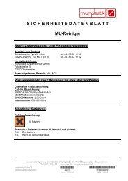 SICHERHEITSDATENBLATT MU-Reiniger - Murrplastik ...