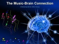 The Music-Brain Connection - Music for Health Services
