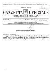 Cure Palliative Regione Sicilia e Terapia del ... - TimeOut intensiva