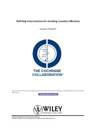 Self-help interventions for smoking cessation - The Cochrane Library