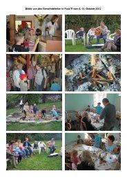 Bilder von den Gemeindeferien in Pura/TI vom 6.-13. Oktober 2012