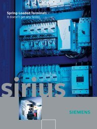 Spring-Loaded Terminals - Siemens Industry, Inc.