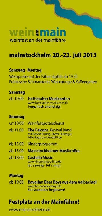 mainstockheim 20.-22. juli 2013