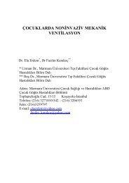 çocuklarda noninvaziv mekanik ventilasyon - Fazilet Karakoç
