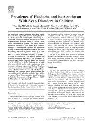 Prevalence of Headache and its Association With Sleep Disorders in ...