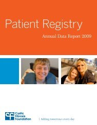 Cystic Fibrosis Foundation Patient Registry Annual Data Report 2009