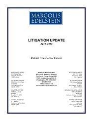 2012 Litigation Update - Margolis Edelstein