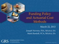 Funding Policy and Actuarial Cost Methods