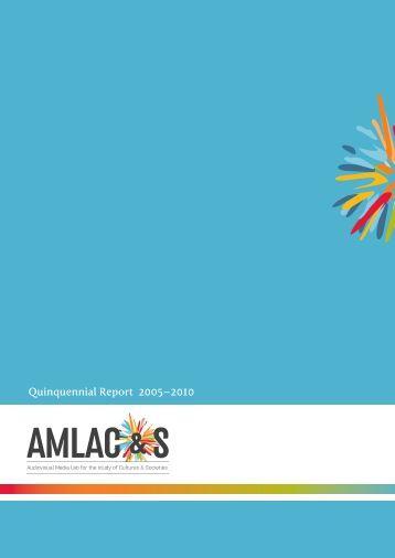 Quinquennial Report 2005–2010 - ArtSites