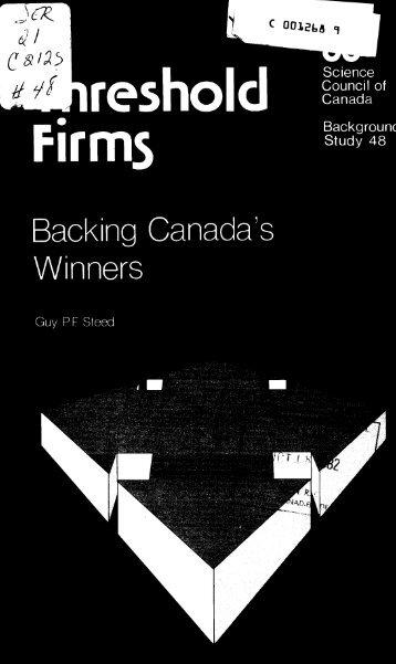 Threshold Firms - Backing Canada's Winners - ArtSites