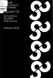Rapport n. 22 Les services de santé et la science - ArtSites