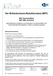 BRT - Produktinformation, Stand 04-2009 - Analytik in Milch ...