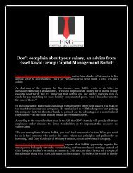 Don't complain about your salary, an advice from Esset Koyal Group Capital Management Buffett