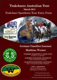 Trakehner Sporthorse Registration Entry Form